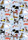 Kate, GIFT WRAPS, GESCHENKPAPIER, PAPEL DE REGALO, paintings+++++Dogs in bandanas,GBKM258,#gp#, EVERYDAY