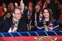 -- NO TABLOIDS NO SITE WEB - 41st International Circus Festival of Monte-Carlo. H.S.H. Prince Albert II of Monaco and Pauline Ducruet attend the 41st International Circus Festival of Monte-Carlo opening.