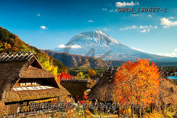 Tom Mackie, LANDSCAPES, LANDSCHAFTEN, PAISAJES, photos,+Asia, Iyashi no-Sato Nenba, Japan, Japanese, Mount Fuji, Tom Mackie, Urban Environment, Worldwide, Yamanashi Prefecture, autu+mn, autumnal, blue, building, buildings, fall, horizontal, horizontals, nobody, seasons, thatch, thatched roof, traditional,+village, villages, volcano, world wide, world-wide,Asia, Iyashi no-Sato Nenba, Japan, Japanese, Mount Fuji, Tom Mackie, Urban+Environment, Worldwide, Yamanashi Prefecture, autumn, autumnal, blue, building, buildings, fall, horizontal, horizontals, no+,GBTM190627-1,#l#, EVERYDAY