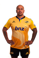 John Schwalger. Hurricanes Super Rugby official headshots at Rugby League Park, Wellington, New Zealand on Tuesday, 13 January 2015. Photo: Dave Lintott / lintottphoto.co.nz