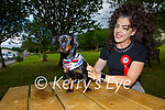 Áine Sheehan with her ten month old miniature Dachshund 'Ispini' who is representing Kerry in 'The Nose of Tralee'.