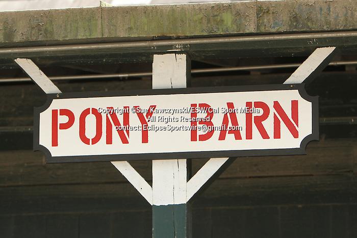 August 17, 2014:  Pony Barn in the backstretch barns at Saratoga Racetrack. Sue Kawczynski/ESW/CSM
