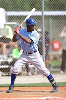 Reese Cooley, #24 of Olathe South High School, KS playing for the Royals Scout Team during the WWBA World Championship 2013 at the Roger Dean Complex on October 26, 2013 in Jupiter, Florida. (Stacy Jo Grant/Four Seam Images)