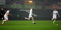Pictured: Oliver McBurnie of Swansea City (C) celebrates his goal Monday 13 March 2017<br /> Re: Premier League 2, Swansea City U23 v Wolverhampton Wanderers FC at the Liberty Stadium, Swansea, UK