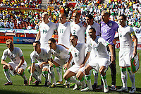 Algeria team line up before the game against Slovenia