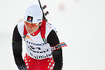 MARTELL-VAL MARTELLO, ITALY - FEBRUARY 02: GODBOUT Claude (CAN) after the Women 7.5 km Sprint at the IBU Cup Biathlon 6 on February 02, 2013 in Martell-Val Martello, Italy. (Photo by Dirk Markgraf)