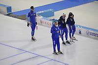 SPEEDSKATING: HEERENVEEN: 13-01-2021, IJsstadion Thialf, ISU European Speed Skating Championships, training team Italy, ©photo Martin de Jong