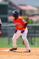 GCL Astros outfielder Daz Cameron (54) during a game against the GCL Braves on July 23, 2015 at the Osceola County Stadium Complex in Kissimmee, Florida.  GCL Braves defeated GCL Astros 4-2.  (Mike Janes/Four Seam Images)