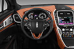Car pictures of steering wheel view of a 2018 Lincoln MKX Black Label 5 Door Suv Steering Wheel