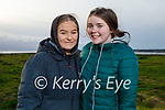 Enjoying a stroll in Lohercannon on Thursday, l to r: Isabelle Dillon and Jessica Lynch.
