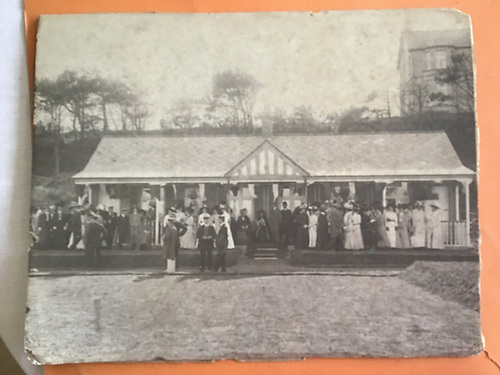 Ballyholme Yacht Club and its wooden pavilion in 1909