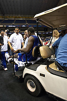 SAN ANTONIO, TX - APRIL 4, 2008: The NCAA Men's Basketball Championship Final Four teams during practice day at the Alamodome. (Photo by Jeff Huehn)