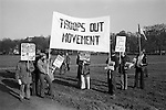 Troops Out Movement demonstrate against the Peace Movement, Hyde Park London rally then march to Trafalgar Square. 1976