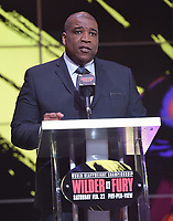 """LOS ANGELES - JANUARY 25: Curt Menefee a Los Angeles press conference on January 25, 2020 for the """"Wilder vs Fury II"""" FOX SPORTS PPV & ESPN+ PPV which will take place on Feb. 22 from the MGM Grand Garden Arena in Las Vegas. (Photo by Frank Micelotta/Fox Sports/PictureGroup)"""