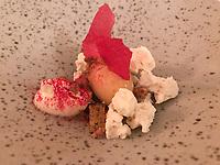 Dessert of Braeburn apple, walnut and yeast at Ecco St Moritz. Photo Sydney Low