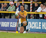 Quade Cooper  lines up his Penalty. England U20 V Australia U20. IRB Junior Rugby World Cup 2008© Ian Cook IJC Photography iancook@ijcphotography.co.uk www.ijcphotography.co.uk.