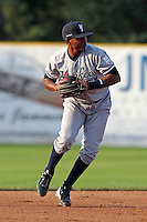 Staten Island Yankees shortstop Jose Mojica during a game vs. the Jamestown Jammers at Russell Diethrick Park in Jamestown Jammers, New York July 15, 2010.   Jamestown defeated Staten Island 5-1.  Photo By Mike Janes/Four Seam Images