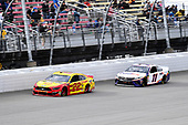 #22: Joey Logano, Team Penske, Ford Mustang Shell Pennzoil and #11: Denny Hamlin, Joe Gibbs Racing, Toyota Camry FedEx Freight
