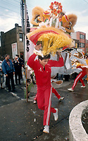 Bank opens in Chinatown; The ceremonial dance of the dragon is performed in Chinatown yesterday to mark the opening of a branch of the Canadian Imperial Bank of Commerce on Dundas St.