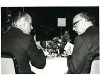 Jean Drapeau et Rene Levesque, le 5 mars 1981