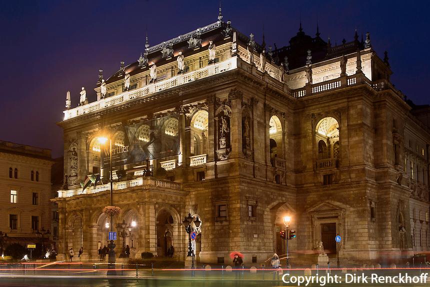 Oper, Operaház an der Andrássy út 20, Budapest, Ungarn, UNESCO-Weltkulturerbe