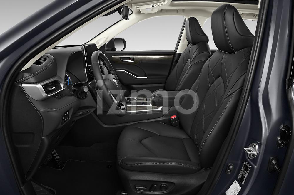 Front seat view of 2021 Toyota Highlander Premium-Plus 5 Door SUV Front Seat  car photos