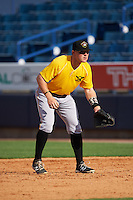 Bradenton Marauders first baseman Chase Simpson (10) during practice before a game against the Tampa Yankees on April 11, 2016 at George M. Steinbrenner Field in Tampa, Florida.  Tampa defeated Bradenton 5-2.  (Mike Janes/Four Seam Images)