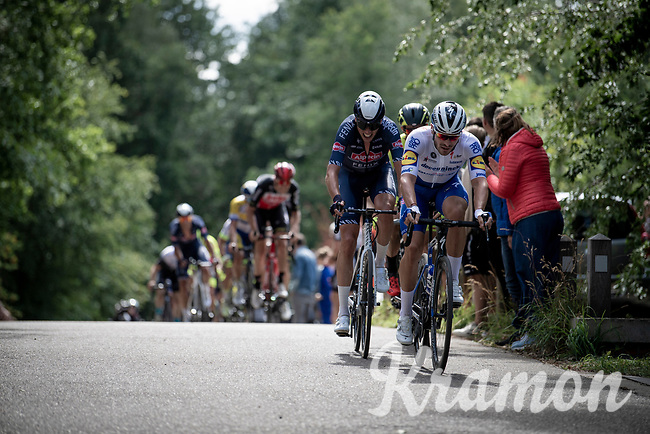 eventual race winner Florian Sénéchal (FRA/Deceuninck - QuickStep) leading the way<br /> <br /> the inaugural GP Vermarc 2020 is the very first pro cycling race in Belgium after the covid19 lockdown of Spring 2020 & which was only set up some weeks in advance to accommodate belgian teams by providing racing opportunities asap after the lockdown allowed for racing to restart (but still under strict quarantine / social distancing measures for the public, riders & press)<br /> <br /> Rotselaar (BEL), 5 july 2020<br /> ©kramon