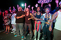 Demonstators lock arms in solidarity in El Cajon, California, a suburb of San Diego, 09/28/16, as some 300 demonstrators gathered to honor an African American man, Alfredo Olango, who was killed by police the night before.