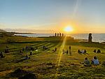 Moai Sunset, Ahu Tahai