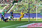 19.09.2020, wohninvest Weserstadion, Bremen, GER,  SV Werder Bremen vs Hertha BSC Berlin, <br /> <br /> <br />  im Bild<br /> <br /> 0:1 durch Peter Pekarík / Pekarik (Hertha BSC #02) gegen Jiri Pavlenka (Werder Bremen #01)<br /> <br /> Foto © nordphoto / Kokenge<br /> <br /> DFL regulations prohibit any use of photographs as image sequences and/or quasi-video.
