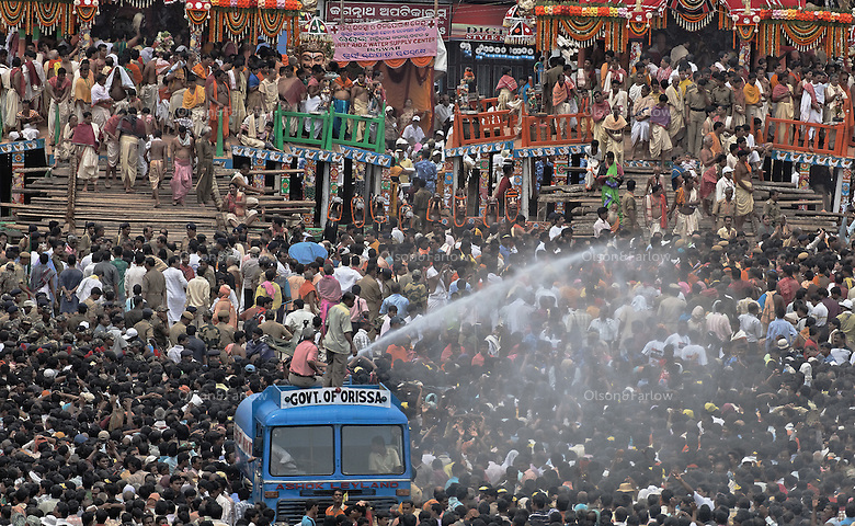 Ratha Yatra Religious festival in temple town called Puri.