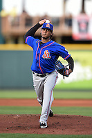 St. Lucie Mets pitcher Marcos Molina (29) delivers a pitch during a game against the Bradenton Marauders on April 11, 2015 at McKechnie Field in Bradenton, Florida.  St. Lucie defeated Bradenton 3-2.  (Mike Janes/Four Seam Images)