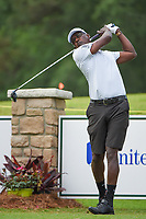 April 29th 2021, The Woodlands, Texas USA;  Vijay Singh watches his tee shot on 1 during the preview of the 2021 Insperity Invitational at The Woodlands Country Club on April 29, 2021 in The Woodlands, Texas.
