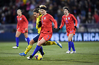 COLUMBUS, OH - NOVEMBER 07: Samantha Mewis #3 of the United States  moves with the ball during a game between Sweden and USWNT at MAPFRE Stadium on November 07, 2019 in Columbus, Ohio.