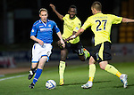 St Johnstone v St Mirren.....11.01.14   SPFL<br /> Steven Anderson is closed down by Stephane Bohoken and Danny Grainger<br /> Picture by Graeme Hart.<br /> Copyright Perthshire Picture Agency<br /> Tel: 01738 623350  Mobile: 07990 594431