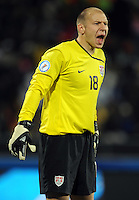 Brad Guzan of USA. USA defeated Egypt 3-0 during the FIFA Confederations Cup at Royal Bafokeng Stadium in Rustenberg, South Africa on June 21, 2009..