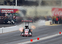 Feb 23, 2020; Chandler, Arizona, USA; NHRA top fuel driver Billy Torrence during the Arizona Nationals at Wild Horse Pass Motorsports Park. Mandatory Credit: Mark J. Rebilas-USA TODAY Sports