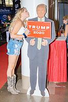 Donald Trump - Cut-outs at Republican Booth - Pence, Melania - Iowa State Fair - Des Moinse, Iowa -