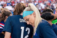 FRISCO, TX - MARCH 11: Julie Ertz #8 of the United States huddles with the team during a game between Japan and USWNT at Toyota Stadium on March 11, 2020 in Frisco, Texas.