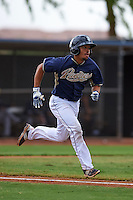 San Diego Padres Tyler Moore (14) during an instructional league game against the Milwaukee Brewers on October 6, 2015 at the Peoria Sports Complex in Peoria, Arizona.  (Mike Janes/Four Seam Images)