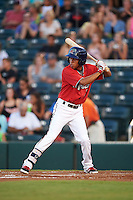 Fort Myers Miracle shortstop Engelb Vielma (7) at bat during a game against the Daytona Tortugas on June 17, 2015 at Hammond Stadium in Fort Myers, Florida.  Fort Myers defeated Daytona 9-5.  (Mike Janes/Four Seam Images)