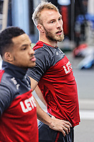 (L-R) Matrin Olsson and Mike van der Hoorn exercise in the gym during the Swansea City Training and Press Conference at The Fairwood Training Ground, Swansea, Wales, UK. Thursday 01 February 2018