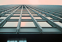 Mies van der Rohe: IBM Building, Chicago 1971. Looking up. The last office building designed by von der Rohe.