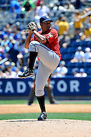 State College Spikes pitcher Fraylin Campos #35 during a game against the Staten Island Yankees at Richmond County Bank Ballpark at St. George on July 14, 2011 in Staten Island, NY.  Staten Island defeated State College 6-4.  Tomasso DeRosa/Four Seam Images