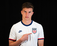 Cole Bassett during a portrait studio session for the U23 Olympic Qualifying team 2021.