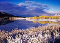 Oxbow Bend at sunrise after snow fall, Grand Teton NP,Wyoming, September 2005
