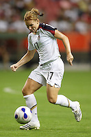 USA midfielder (17) Lori Chalupny. The United States (USA) defeated Norway (NOR) 4-1 during the third place match of the Women's World Cup China 2007 at Shanghai Hongkou Football Stadium in Shanghai, China, on September 30, 2007.