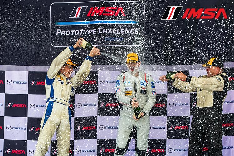 IMSA Prototype Challenge Presented by Mazda<br /> Sahlen's Six Hours of the Glen<br /> Watkins Glen International, Watkins Glen, NY USA<br /> Saturday 1 July 2017<br /> IMSA Mazda Prototype Challenge Race 2, MPC Masters Podium<br /> World Copyright: Jake Galstad/LAT Images