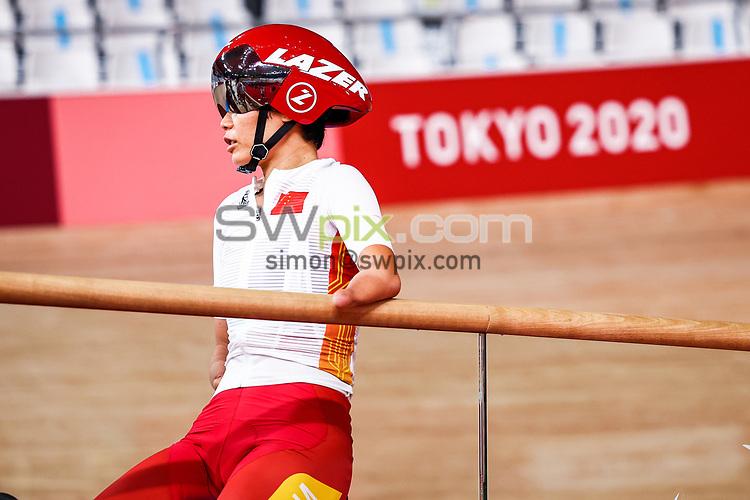 Picture by Alex Whitehead/SWpix.com - Tokyo 2020 Paralympics - 24/08/2021 - Track Cycling - Izu Velodrome, Izu, Japan - Jianping Ruan of China during practice.